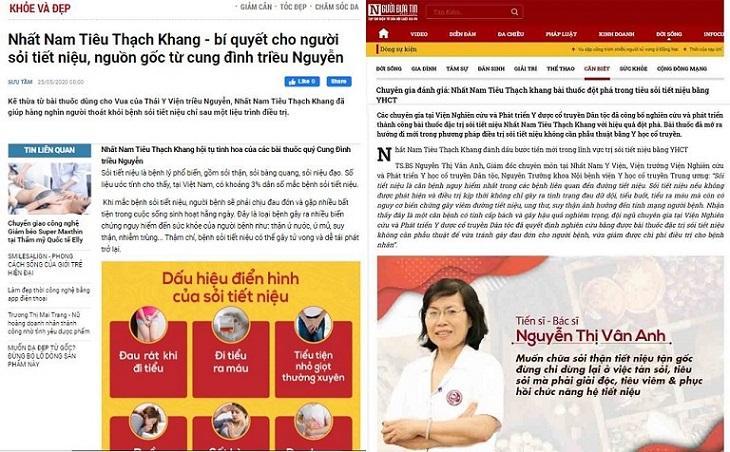 Báo chí nói về Nhất Nam Tiêu Thạch Khang trị sỏi tiết niệu