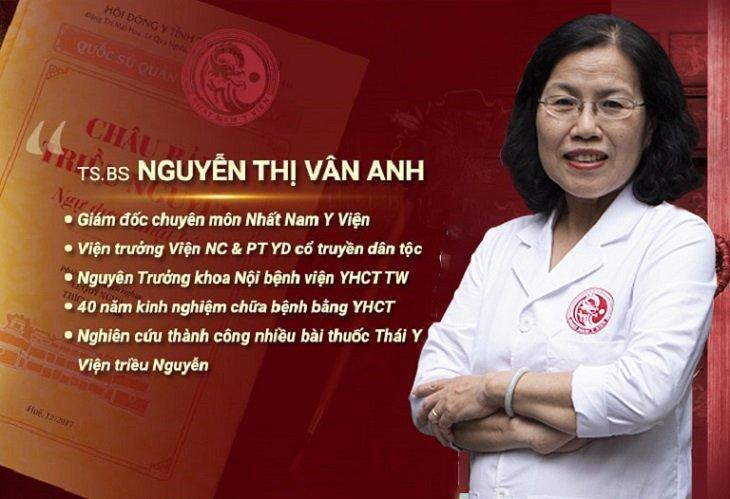 Tiến sĩ - Bác sĩ Nguyễn Thị Vân Anh - vị danh y có tâm , có tầm hết lòng vì người bệnh
