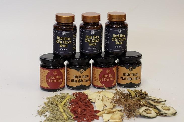 Bộ sản phẩm Nhất Nam Tiêu Thạch Khang đặc trị sỏi mật