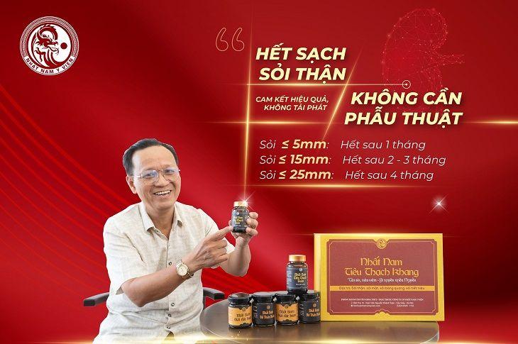 Chú Nguyễn Minh Trí đã hết sạch sỏi thận không cần phẫu thuật nhờ Nhất Nam Tiêu Thạch Khang